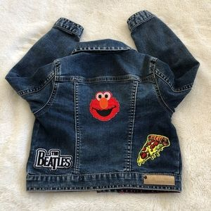 Custom Calvin Klein Denim Jacket With Patches 4T